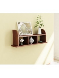 Home Sparkle Straight Wall Shelf Engineered Wood (Brown)