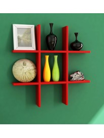 Home Sparkle Plus Shaped Wall Shelves Engineered Wood (Red)