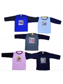 ISAKAA Baby 5 Cotton Full Sleeve Tshirts