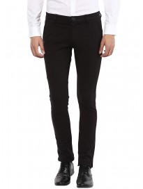 Mufti Mens Slim Fit Mid Rise Trousers