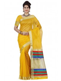 Mimosa By Kupinda Women's Net Saree Style Color :Gold (3375-PRS8-GLD)