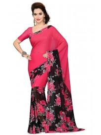 ishin georgette with Blouse Piece Saree