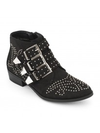TRUFFLE COLLECTION Women's ACF1 Black Suede Boots