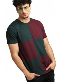 AELOMART Men's Regular Fit Cotton T Shirt-(AMT1272-P_Green)