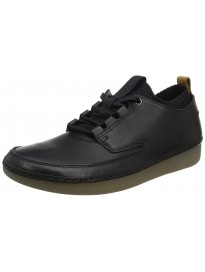 Clarks Men's Tunsil Ridge Black Leather Boat Shoes