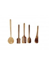 Wooden Non-Stick Serving And Cooking Spoons Kitchen Tools