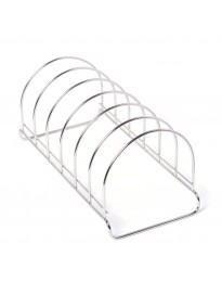 Stainless Steel Round Plate Rack/Stand, 1-Piece, Size - 6