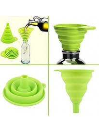 Bottle Funnel Foldable Collapsible Silicone Funnel