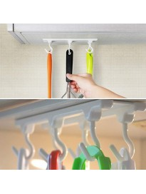 Wall Mounted 6 Hook Holder for Multi Function