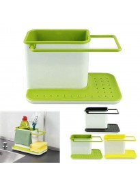 3 in 1 Kitchen Sink Caddy, Organizer Soap, Sponge, Cloth and Brush Holder Accessories
