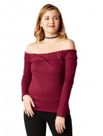 Miss Chase Women's Black One Shoulder Half Sleeved Solid Layered Top