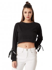 Miss Chase Womens Maroon Crop Top