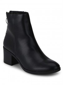 TRUFFLE COLLECTION Women's BLOO3 Black PU Boots