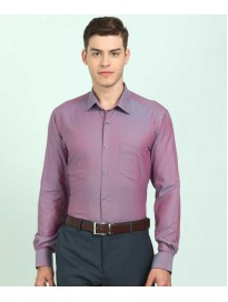 Men Regular Fit Self Design Formal Shirt