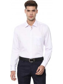 Men Regular Fit Self Design Spread Collar Formal Shirt