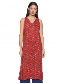 global desi Women's Rayon a-line Kurta