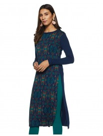 global desi Women's Synthetic a-line Kurta
