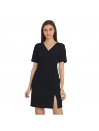 COVER STORY Solid Black Women Dress