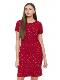 Allen Solly Womens Round Neck Printed Shift Dress