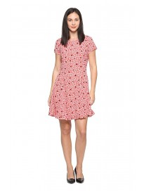 Allen Solly Synthetic a-line Dress (AWDR517U005892_Red_M)