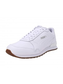 Puma Unisex's St Runner V2 Full L White-Gray Viol Leather Sneakers