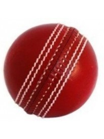 MRF Club Cricket Leather Ball  (Pack of 1, Red)