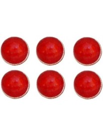 QUINERGYS ® Cricket Ball | Leather | Red | Test Grade | Yorker Test Professional Grade Cricket Leather Ball  (Pack of 6, Red)