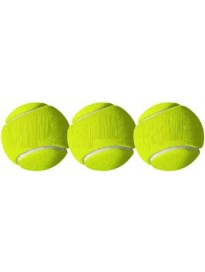 QUINERGYS ® Practice-Training Cricket Ball Cricket Tennis Ball  (Pack of 3, Yellow)