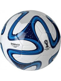 Brazuca Match Football - Size: 5  (Pack of 1, Blue)