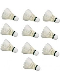 Feather Shuttle - White  (Medium, 77, Pack of 10)