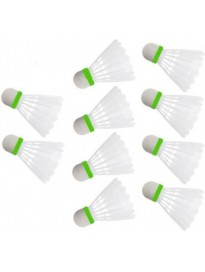 New Plastic Shuttle White Color 10 Pc (Medium Fast, 78, Pack of 10)