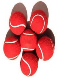 Tennis Ball  (Pack of 6, Red)