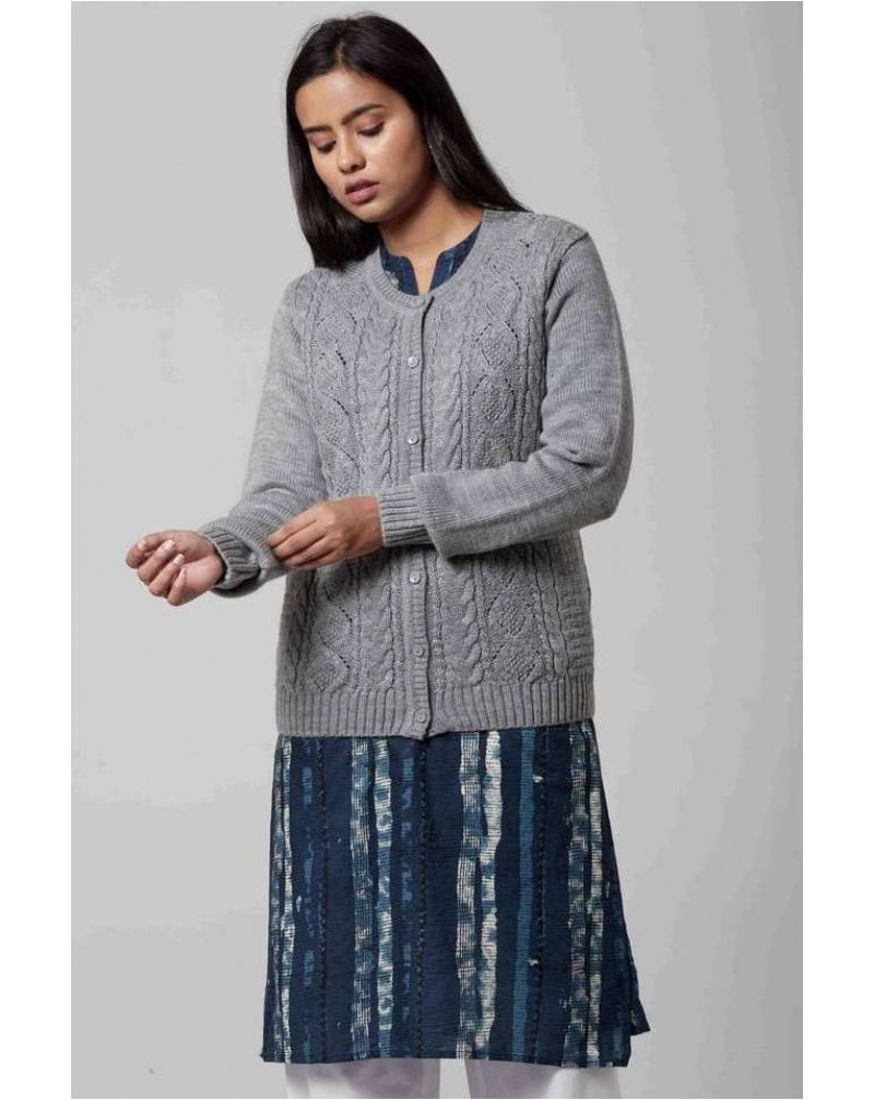 STOP Womens Textured Cardigan For Winter Wear